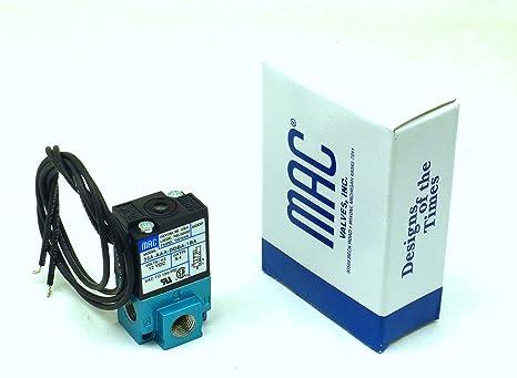 120 PSI MAC VALVES INC 35A-AAA-DDBA-1BA 5.4 W 12 VDC Solenoid Valve