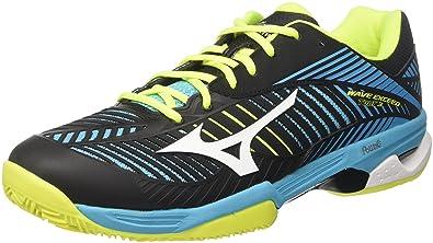 hot sales e9cbc 450c3 Mizuno Wave Exceed Tour CC, Chaussures de Tennis Homme, Multicolore  (Blueatollwhiteblack),