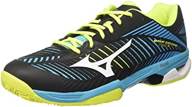 promo code 7f8d5 298ec Mizuno Men s s Wave Exceed Tour Cc Tennis Shoes Multicolor  (Blueatollwhiteblack) ...