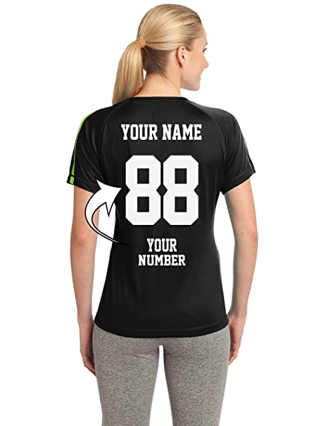 6cfa1072802 Amazon.com   Tee Miracle Custom Soccer Jerseys for Ladies - MAKE YOUR OWN  JERSEY T Shirts   Team Uniforms   Sports   Outdoors