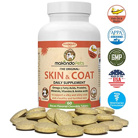 Amazoncom Skin And Coat Supplement For Dogs And Cats Fish Oil