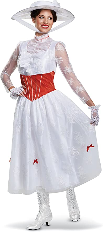 1900s, 1910s, WW1, Titanic Costumes Disguise Womens Mary Poppins Deluxe Adult Costume $42.99 AT vintagedancer.com