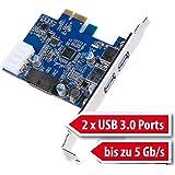 tinxi® 2 Port 3.0 scheda di interfaccia PCI Express Card PC Card Controller Hub Carta Comando USB Port