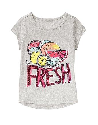 0aab3845 Amazon.com: Gymboree Girls' Big Short Sleeve Fruit Grey Graphic Tee:  Clothing