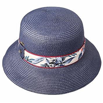 Wy-Bufanda Sombrero de Sombrero de Visera de Verano Sombrero de Playa  Vacaciones Plegable Sun f6a357c9c9b