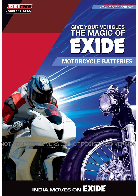 Exide Honda Hero Motors Bike Sealed Battery Xltz4 Car Motorcycle Starter On Motorbike