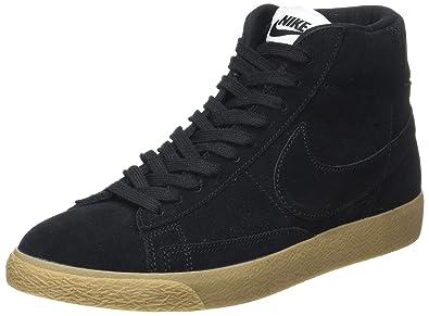 Nike Mens Blazer Mid Prm Black/Black Gum Light Brown Casual Shoe 8.5 Men US