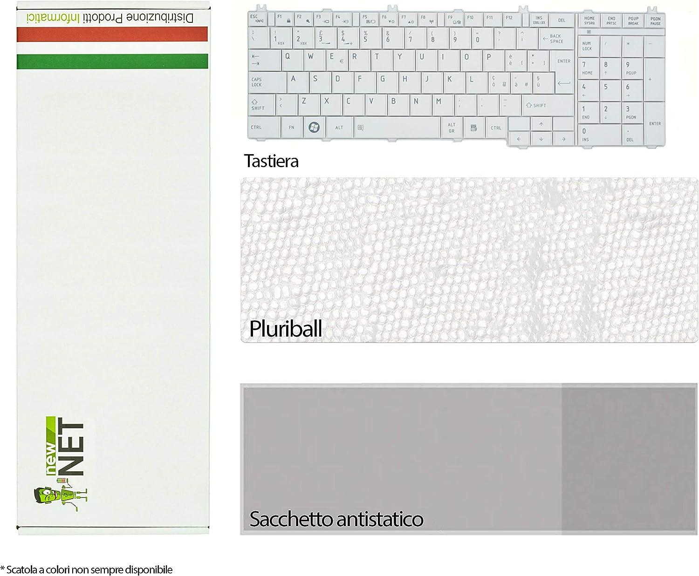 New Net Keyboards - Teclado Italiano Compatible con Toshiba Satellite C655 C655D C665 C670 L650D L655 L670D L675 L750D L755 Serie Blanca: Amazon.es: Electrónica
