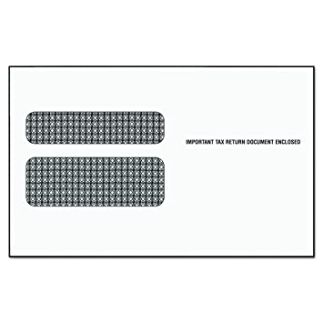 Amazon.com : TOPS 2219LR Double Window Tax Form Envelope for W2 ...