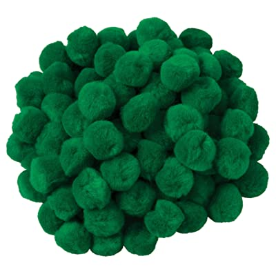 "Creativity Street Pom Pons, Kelly Green, 1"", 100 Pieces: Toys & Games"