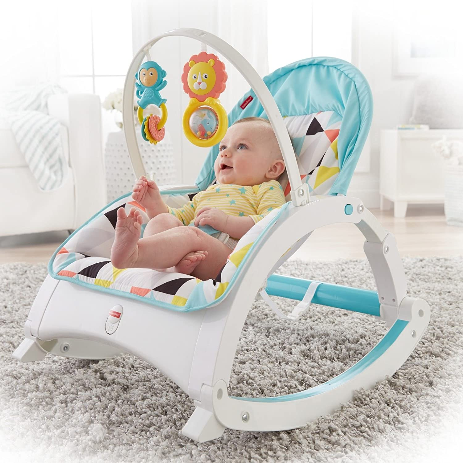 Fisher Price Infant To Toddler Rocker Pink Windmill Baby Fvc23