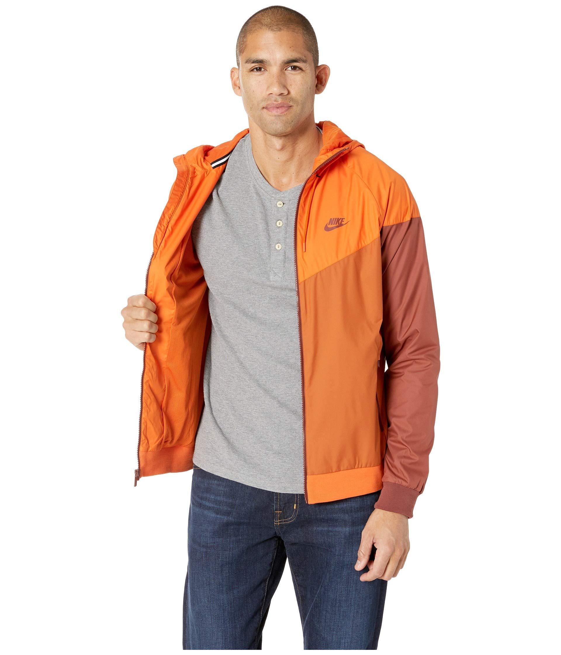 Nike Men's Windrunner Full Zip Jacket (Cmpfre Ornge/Dk Russet/Small) by Nike (Image #6)