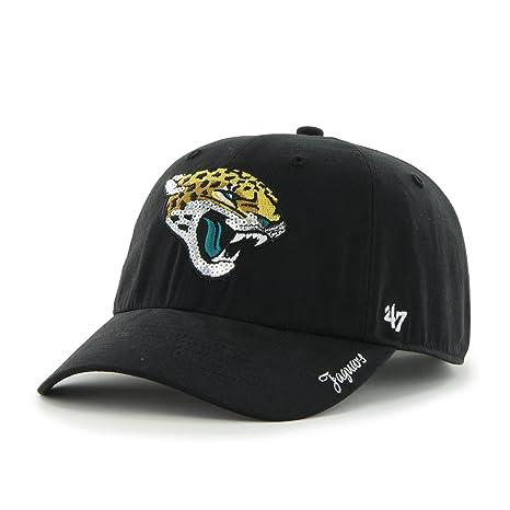 NFL Jacksonville Jaguars Women s  47 Brand Sparkle Team Color Clean Up Adjustable  Hat 55039bab8c36