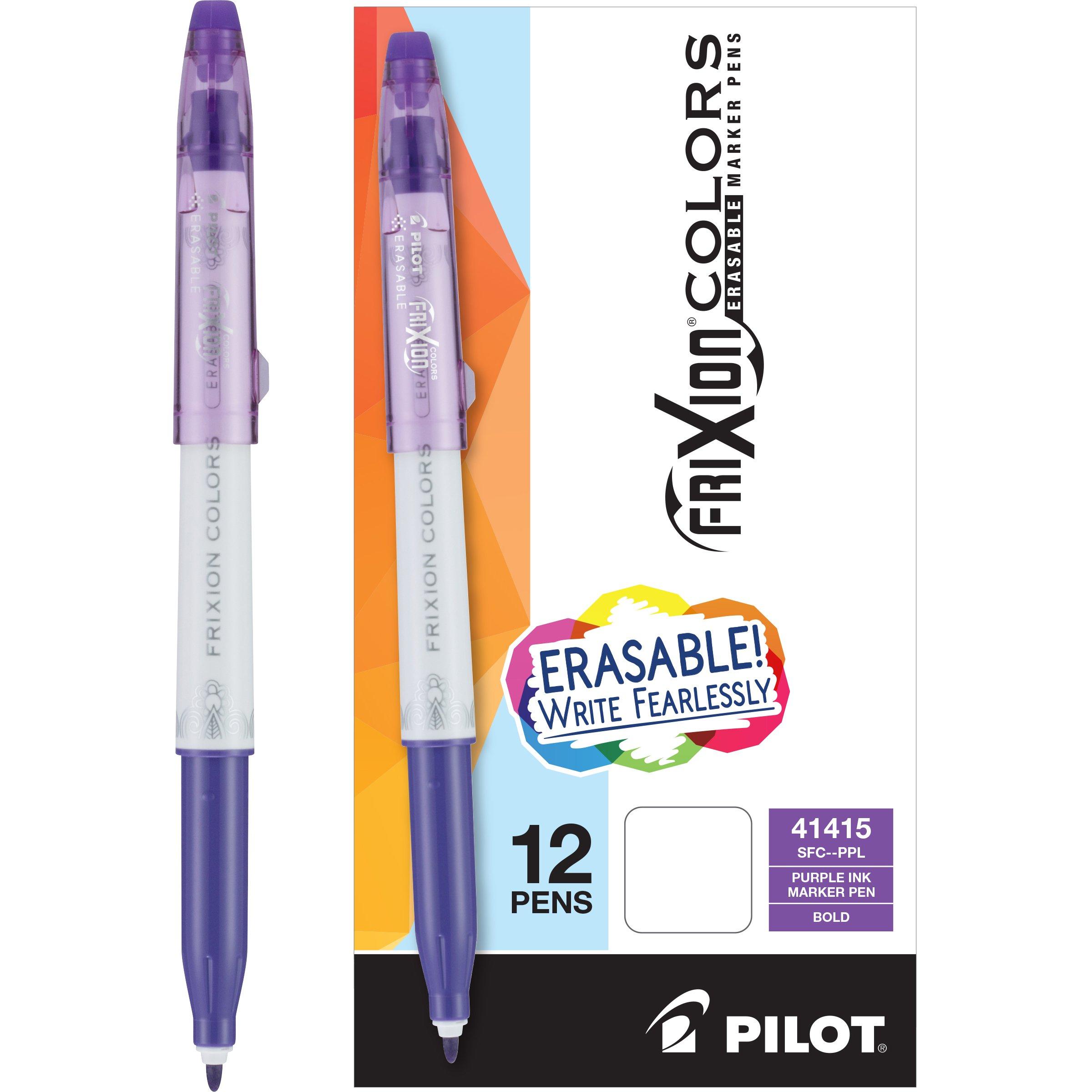 PILOT FriXion Colors Erasable Marker Pens, Bold Poi [75XFM77J]