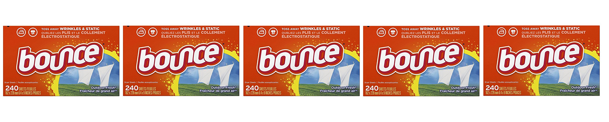 Bounce Outdoor Fresh wFDGRU Fabric Softener and Dryer Sheets (5 Units)