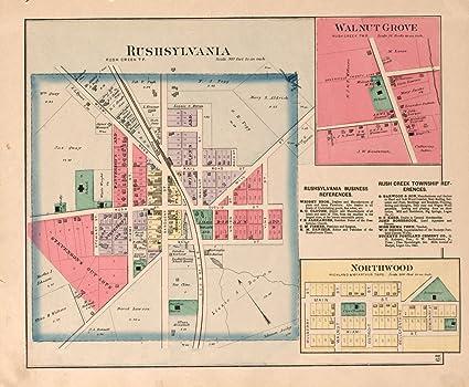 Amazon Com Historic 1890 Map Atlas Of Logan County Ohio