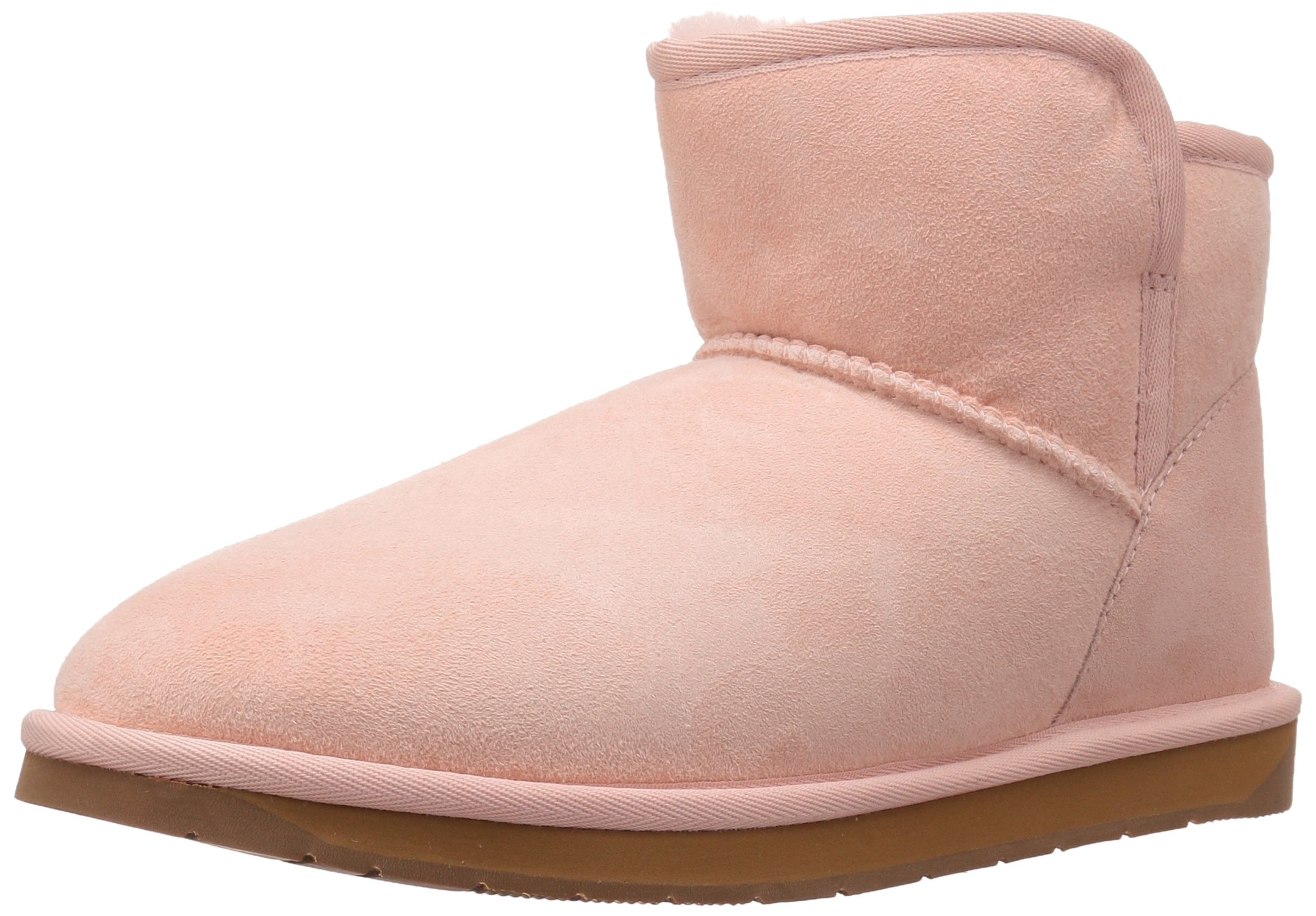 206 Collective Women's Bellevue Shearling Ankle Boot, Pink, 11 B US