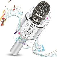 Micrófono Karaoke Bluetooth con Modo Dueto Para Fiestas, Microfonos infantiles para niños, niñas o amigos Compatible con…