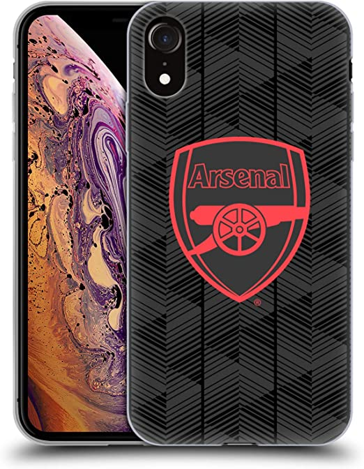 Amazon Com Head Case Designs Officially Licensed Arsenal Fc Black Crest And Gunners Logo Soft Gel Case Compatible With Apple Iphone Xr