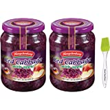 Hengstenberg Red Cabbage with Apple, 24 oz (2 Pack) with PrimeTime Direct Silicone Basting Brush in a PTD Sealed Box
