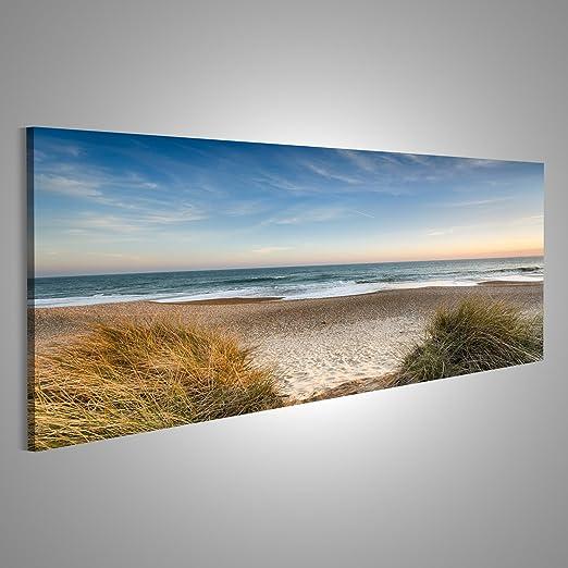 Strand V2 Nordsee Panorama Format Bild auf Leinwand Wandbilder Bilder