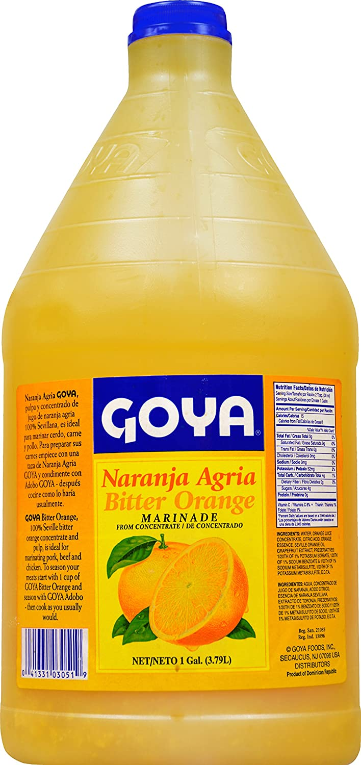 Amazon.com : Goya Foods Bitter Orange Naranja Agria Marinade, 8.35 Pound : Grocery & Gourmet Food