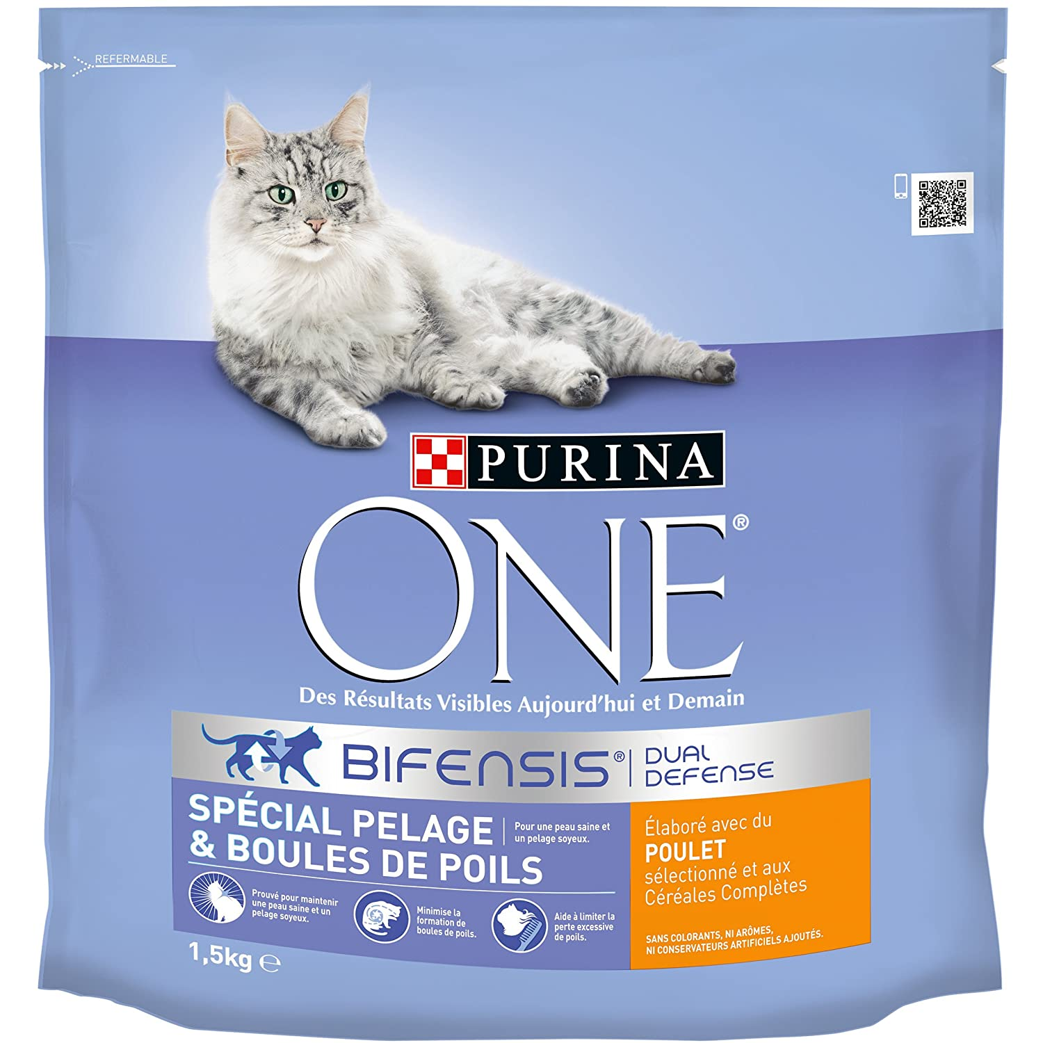 Purina One Spécial Chat Sensible - à la Dinde et au Riz - 4, 5Kg - Croquettes pour Chat Adulte lot de 10 x 450g One Chat 558486