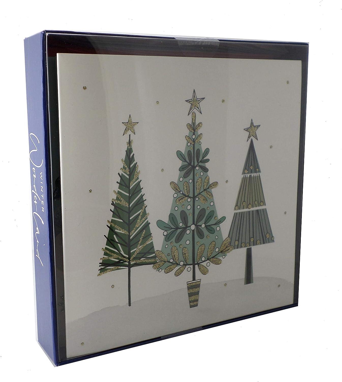 Box of 8 Winter Wonderland Christmas Cards In 2 Designs Xmas Card Packs: Amazon.es: Oficina y papelería