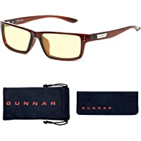 GUNNAR Gaming and Computer Eyewear/Riot, Amber Tint - Patented Lens, Reduce Digital Eye Strain, Block 65% of Harmful…