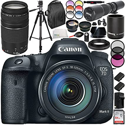 Amazon com : Canon EOS 7D Mark II DSLR Camera and 18-135mm f
