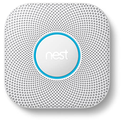 Nest S3000BWES Nest Protect 2nd Gen Smoke + Carbon Monoxide Alarm, on