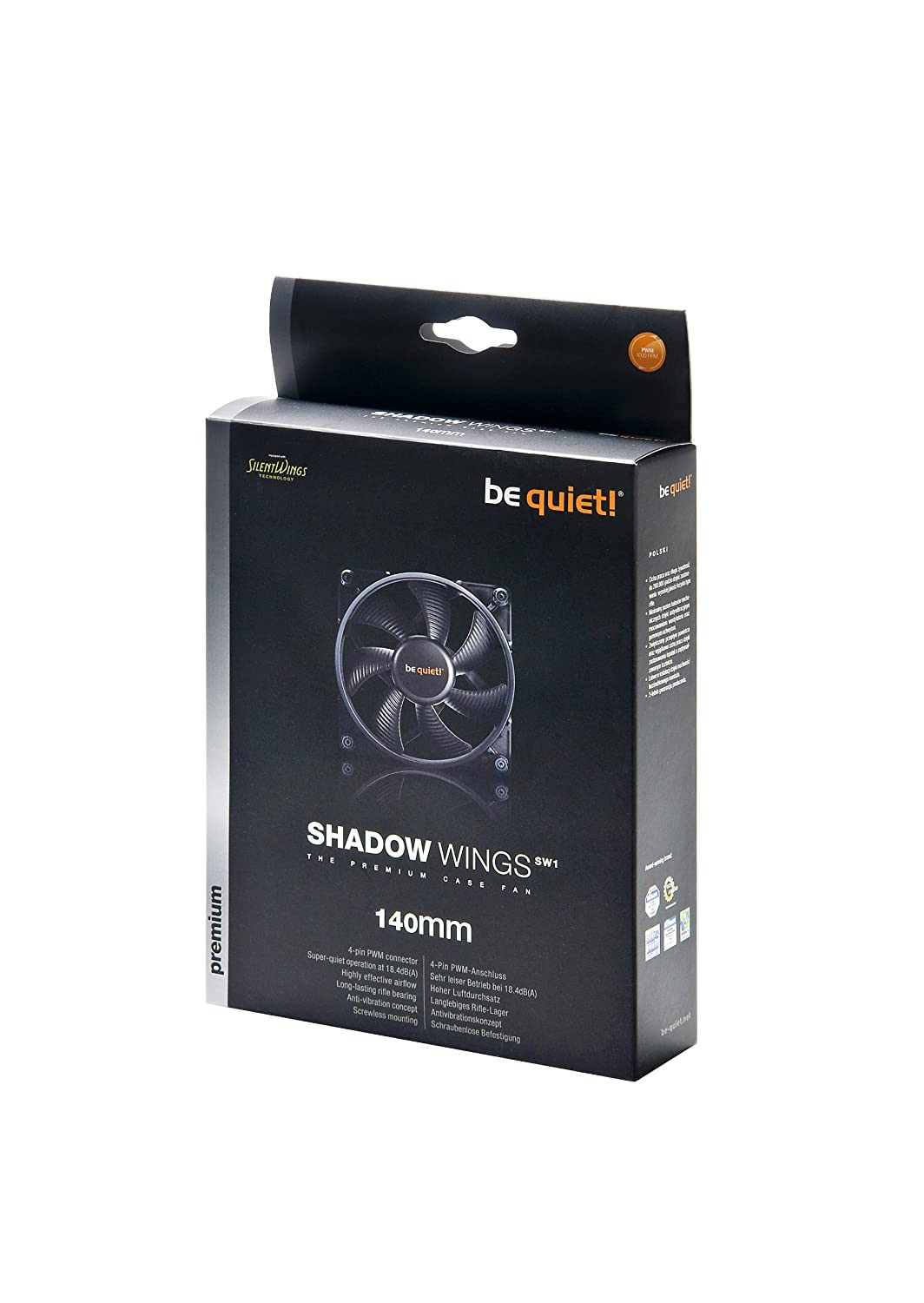 be quiet BL027 Shadow Wings PWM Ventilateur 140 mm