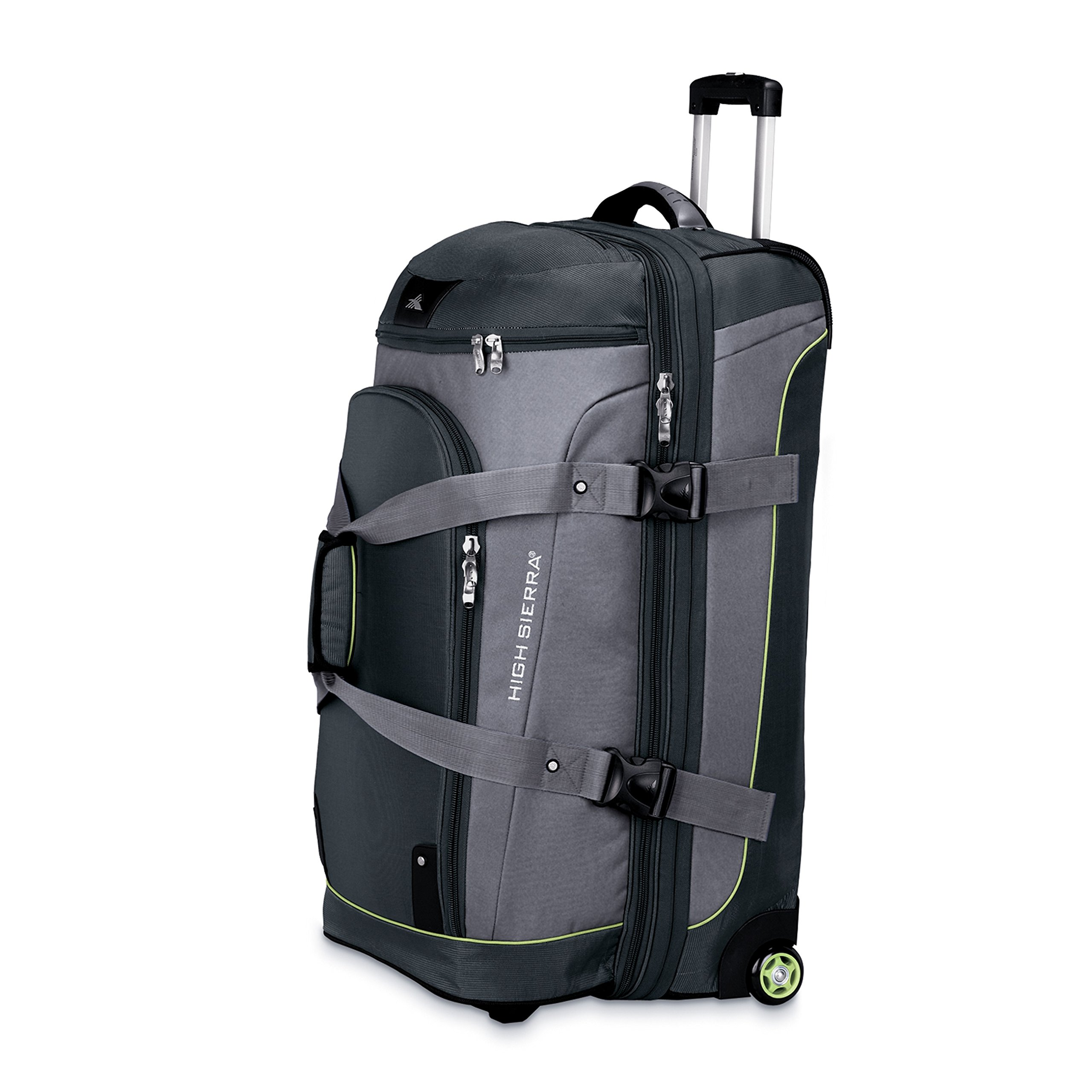 High Sierra 32'' Drop Bottom Wheeled Duffle (Graphite/Titanium/Spring) by High Sierra