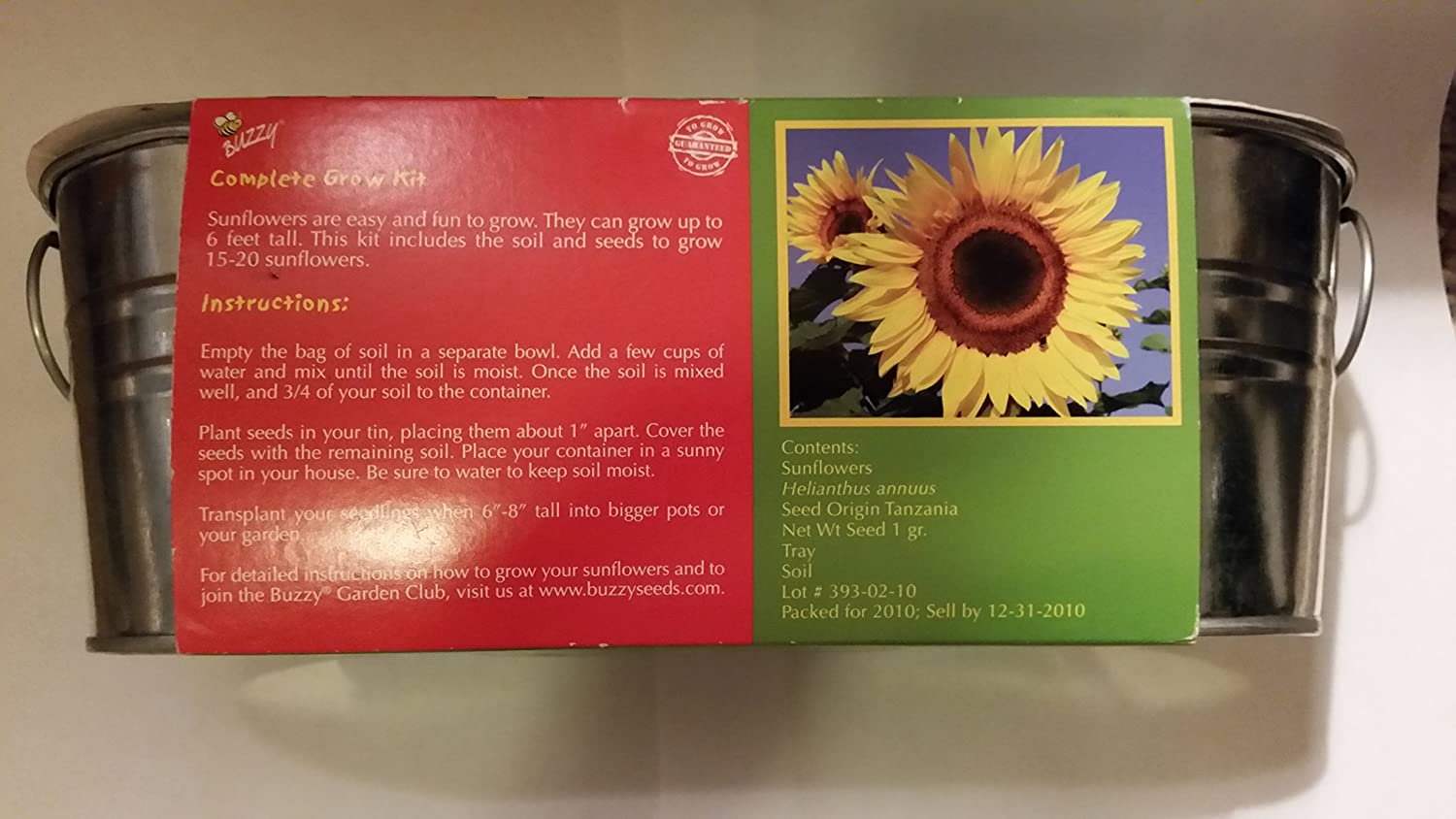 Amazon My First Tomato And Sunflower Grow Kit Kitchen Dining