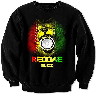 Reggae Rastafari Rasta Regalo M/úsica Sudadera
