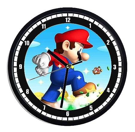 Reloj de pared de plástico Super Mario Bros: Amazon.es: Hogar