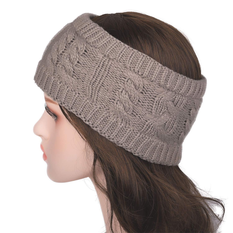 Flammi Twist Knit Head Band Head Wrap Warm Ear Warmer for Women Girls