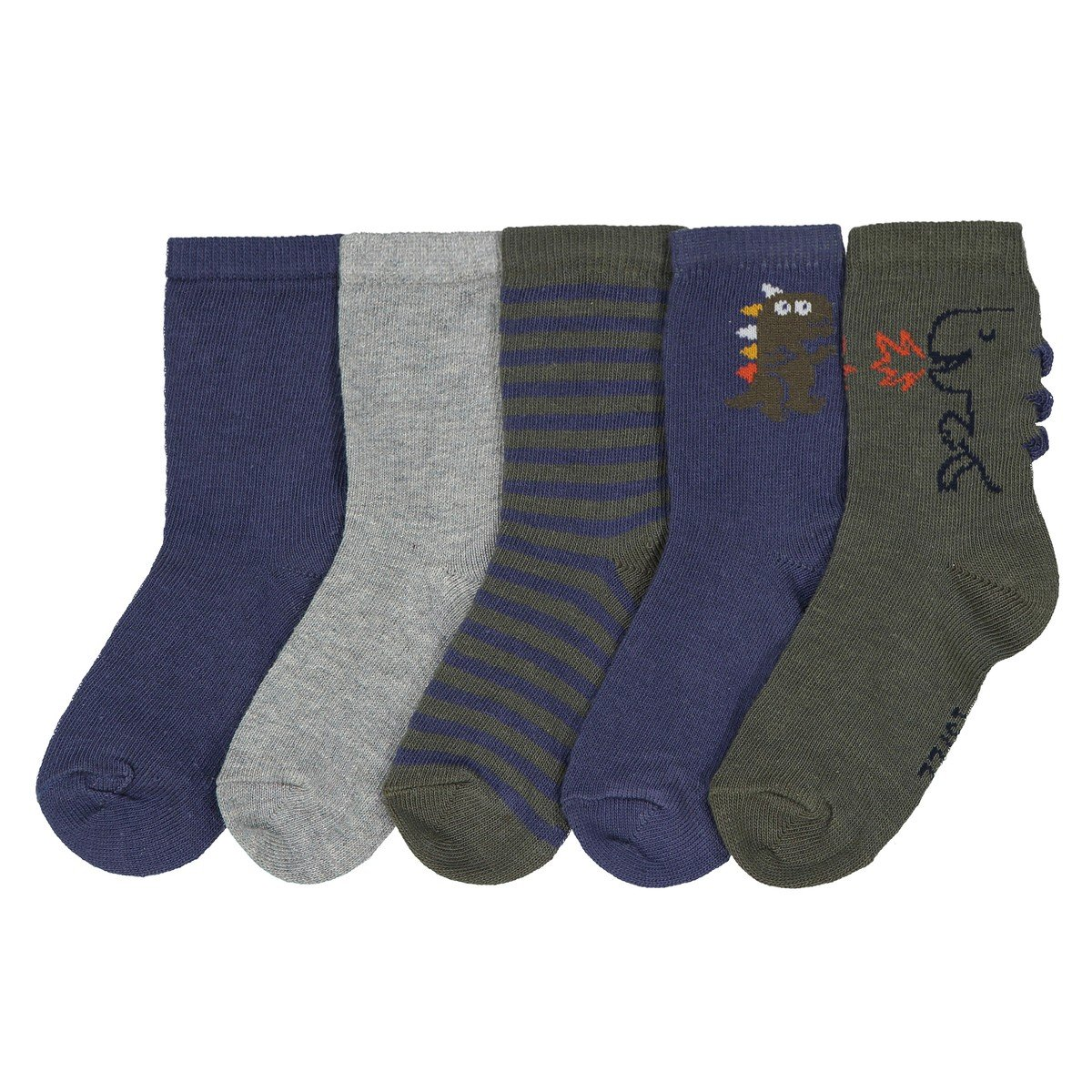 La Redoute Collections Big Boys Pack Of 5 Pairs Of Fancy Socks, Sizes 15/18-23/26 Blue Size 23/26 (6 To 8.5)