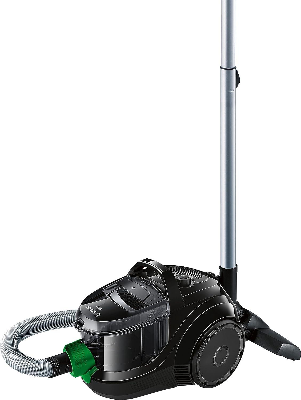 Bosch BGS1UECO2 GS-10 ProEnergy Aspirador sin Bolsa, Diseño Ultra-Compacto, Filtro HEPA Lavable, 550 W, 1.4 Litros, 79 Decibeles, Negro y verde