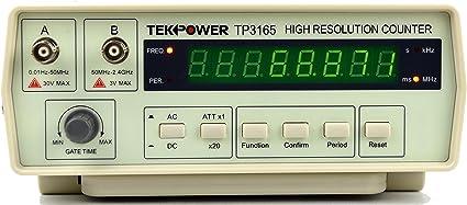 Amazon.com: TekPower TP3165, Intelligent Frequency Counter 0.1Hz ...