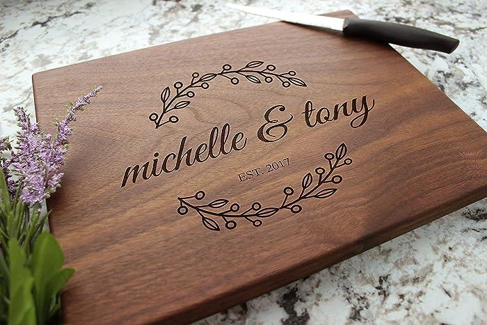 Amazon Bridal Wreath Personalized Cutting Board Engraved