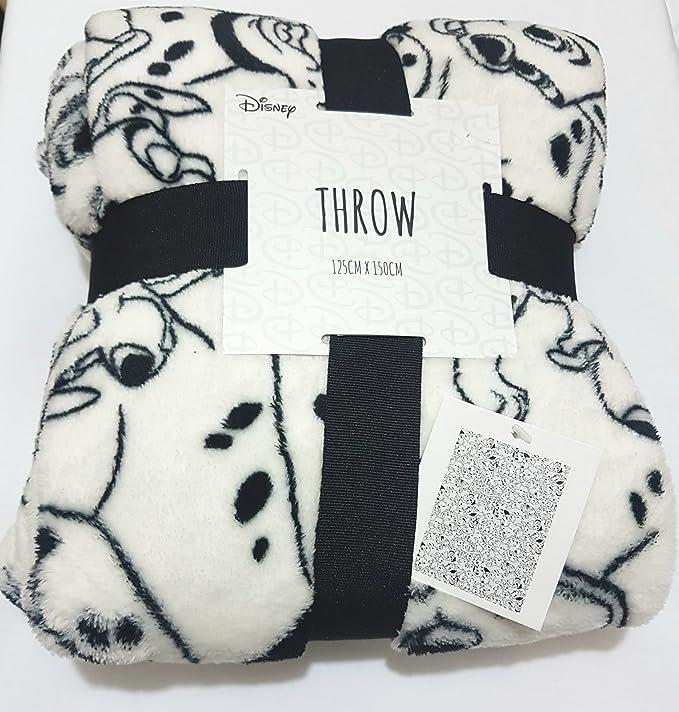 Manta de forro polar con diseño de 101 Dálmatas (Disney) se vende por Bend The Trend2, 125 x 150 cm: Amazon.es: Hogar
