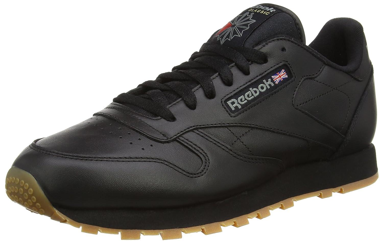 Reebok Classic Leather - Zapatillas de Cuero para Hombre 50 EU|Negro (Black / Gum 2)
