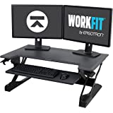 "Ergotron WorkFit-TL, Sit-Stand Desk Converter | Black, 37.5"" wide 