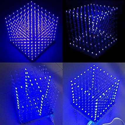 Amazon Arduino Diy 8x8x8 Led Cube 3d Light Square Electronic