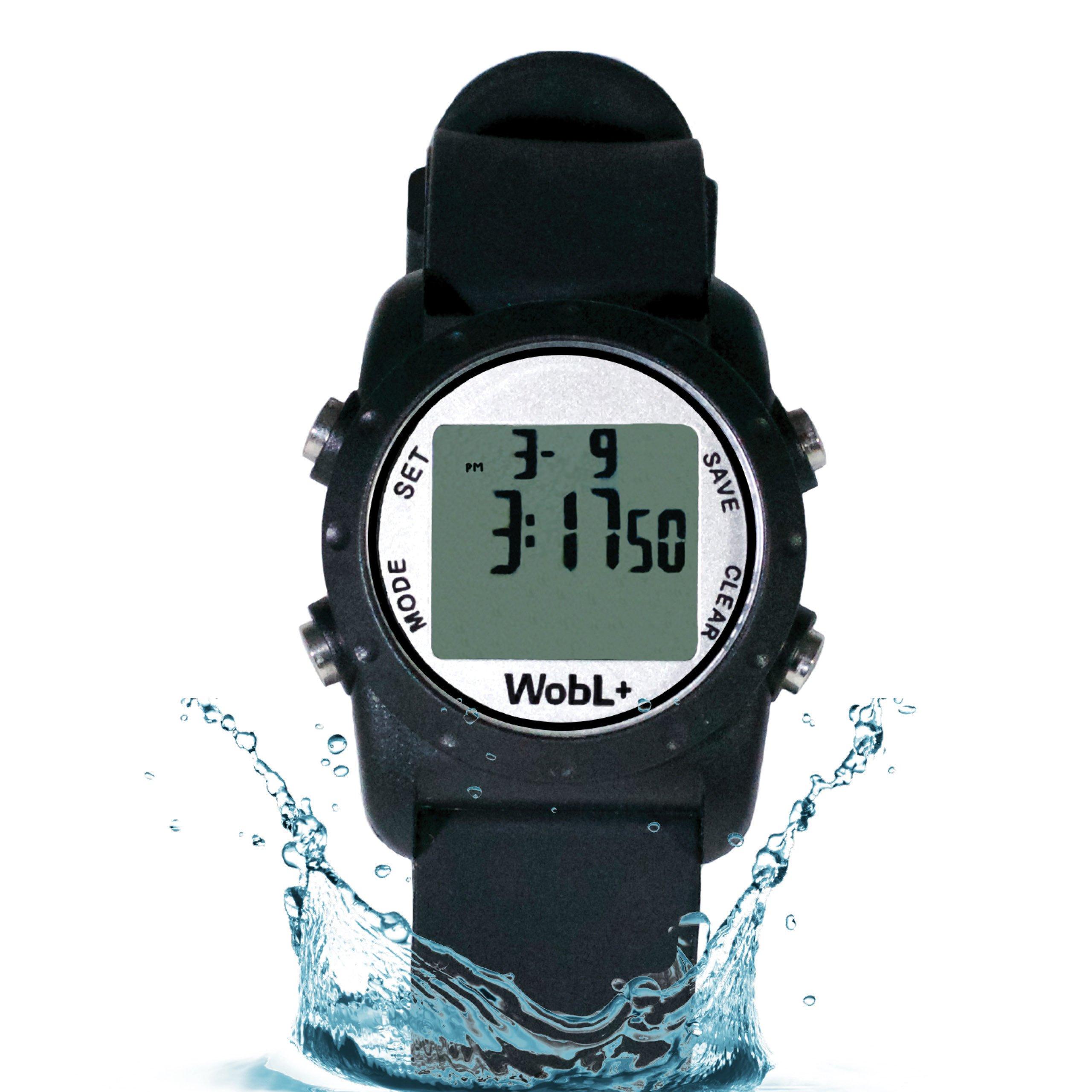 WobL+ Waterproof Vibrating Watch (Black)