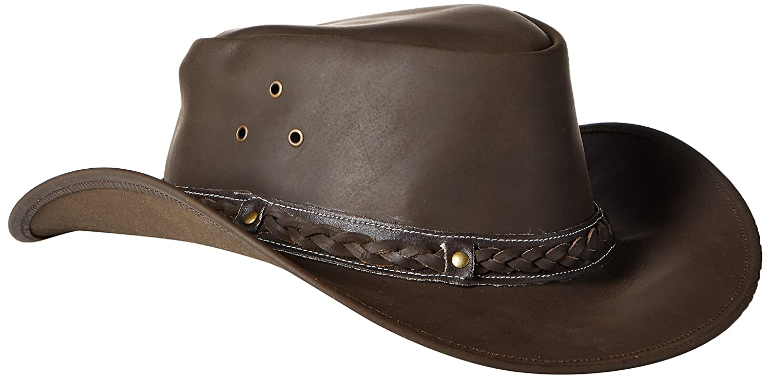 6caecaea90b25 Amazon.com  Down Under Leather Hat  Sports   Outdoors