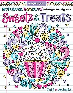 Notebook Doodles Sweets Treats Coloring Activity Book Design Originals 32 Scrumptious