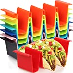 Youngever 8 Pack Plastic Taco Holder Stand, Dishwasher Top Rack Safe,