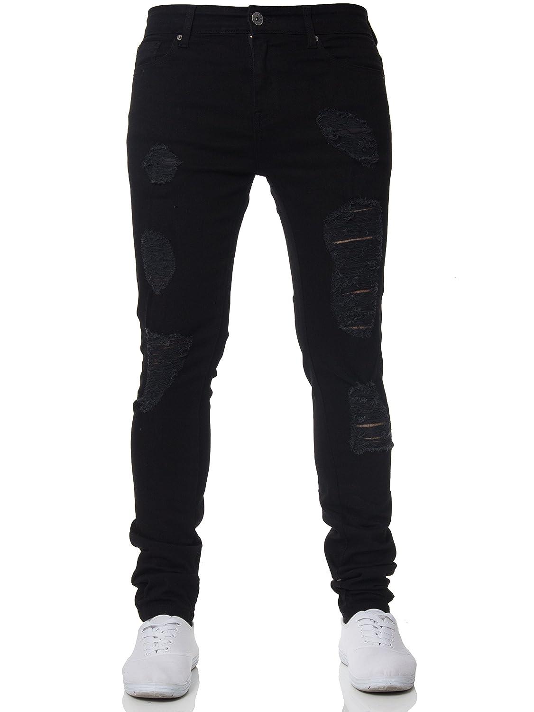 dd3dccf0 Top6: Ze Enzo New Mens ENZO Super Stretch Skinny Jeans Ripped Distressed  Designer Denim Pants